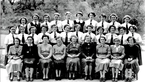 Staff and Prefects 1953