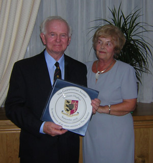 Presentation of Plate to Mr Owen Hughes by Mrs Anne Borthwick